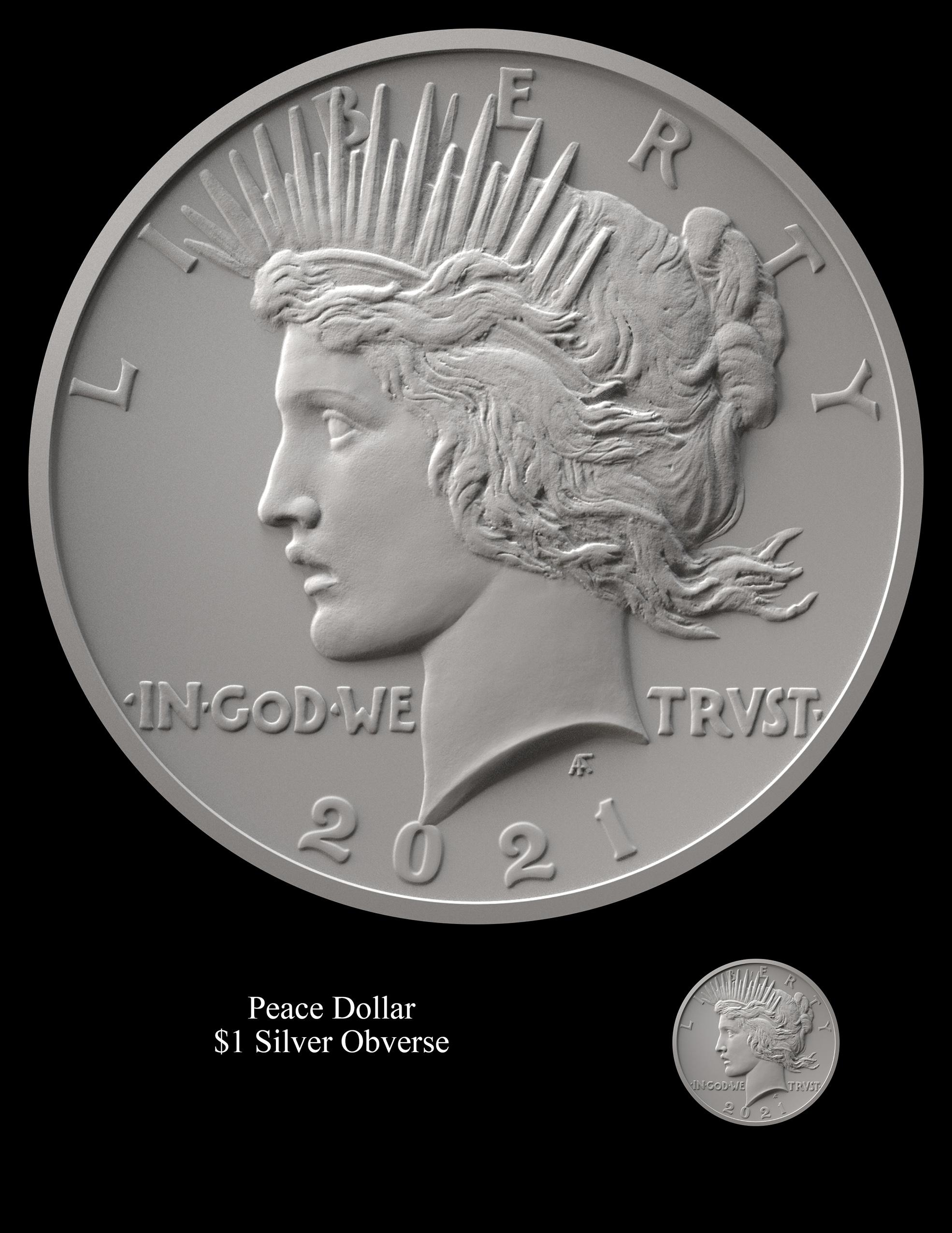 Peace Obverse -- 2021 Peace Dollar