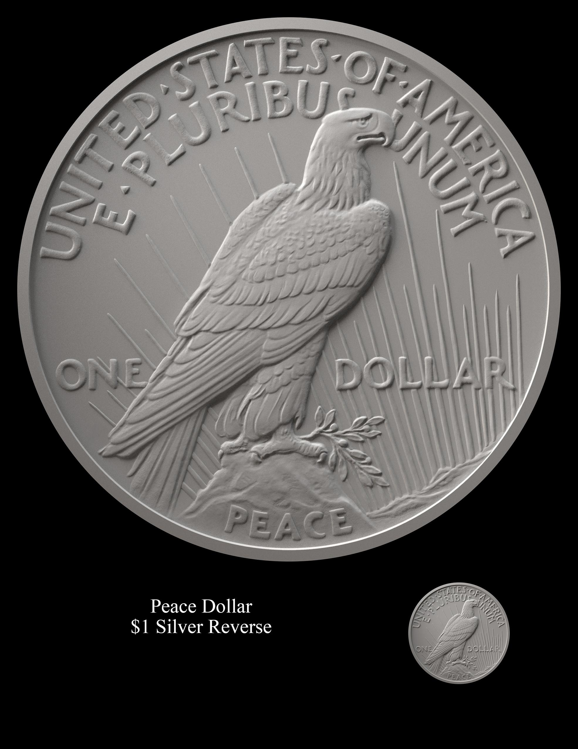 Peace Reverse -- 2021 Peace Dollar