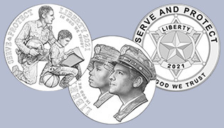 national law enforcement memorial and museum commemorative obverse coins line art