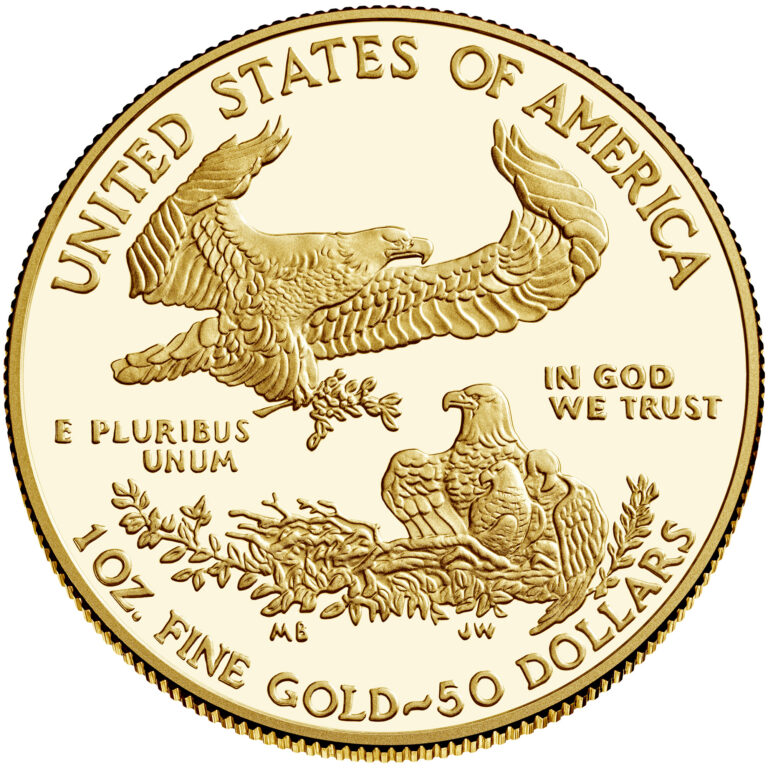 2021 American Eagle Gold One Ounce Proof Coin Reverse Old Design