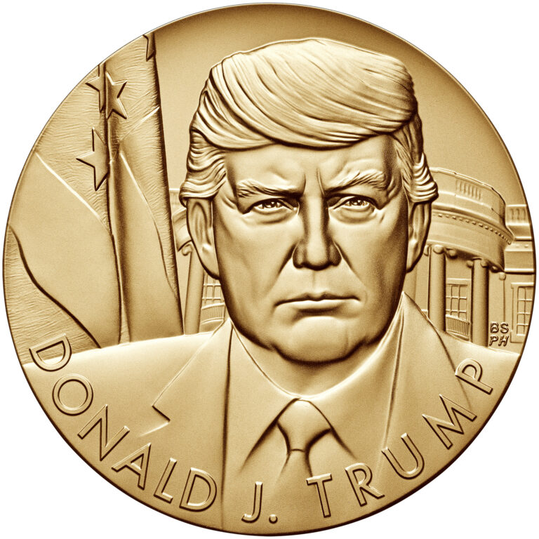 Donald Trump Presidential Bronze Medal Obverse