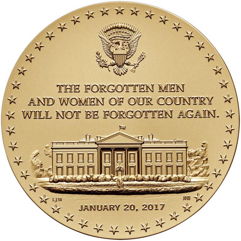 Donald Trump Presidential Bronze Medal Reverse