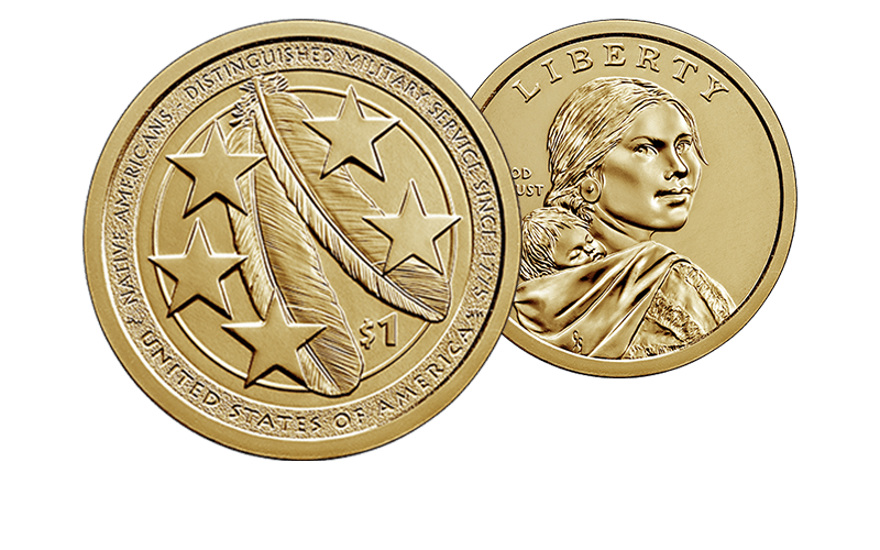 2021 Native American $1 Coin reverse and obverse