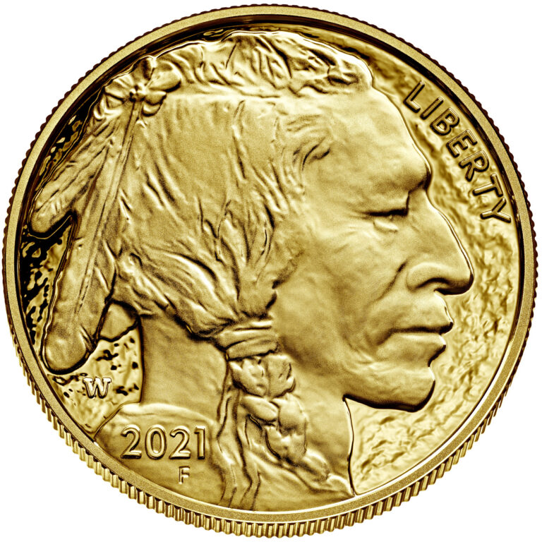 2021 American Buffalo One Ounce Gold Proof Coin Obverse