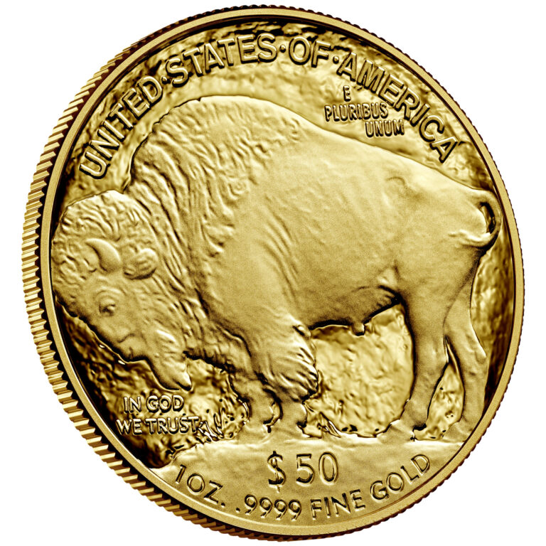 2021 American Buffalo One Ounce Gold Proof Coin Reverse Angle