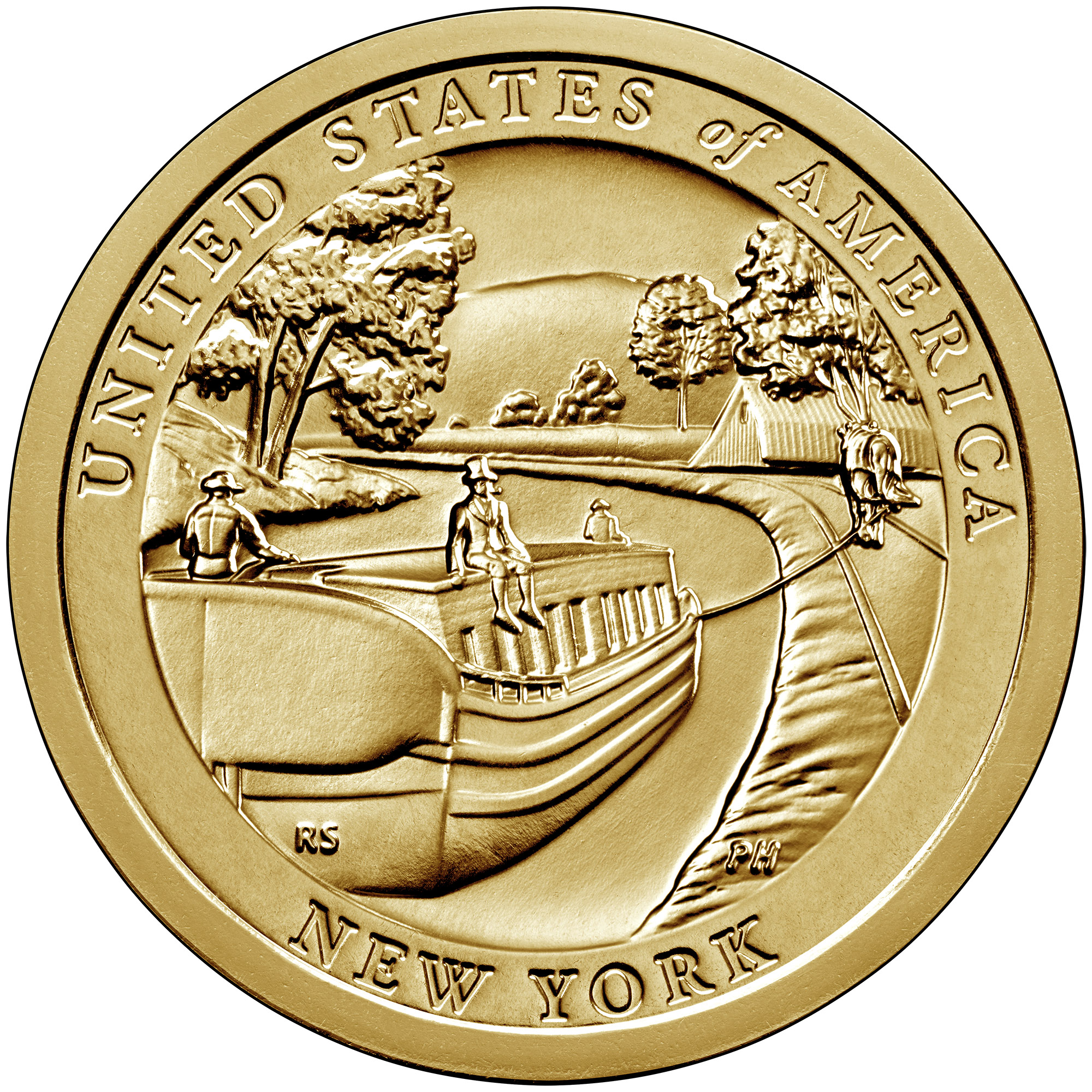 2021 American Innovation One Dollar Coin New York Uncirculated Reverse