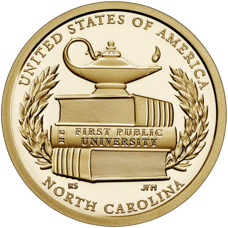 2021 American Innovation One Dollar Coin North Carolina Proof Reverse