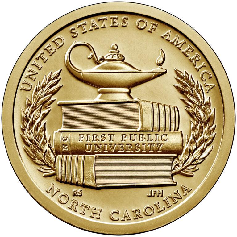 2021 American Innovation One Dollar Coin North Carolina Uncirculated Reverse