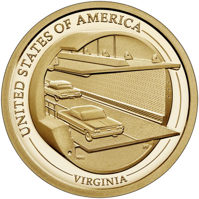 2021 American Innovation One Dollar Coin Virginia Proof Reverse