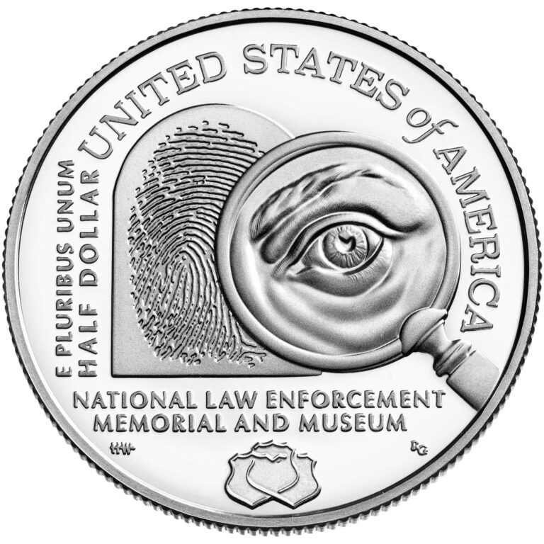 2021 National Law Enforcement Memorial and Museum Clad Coin Proof Reverse