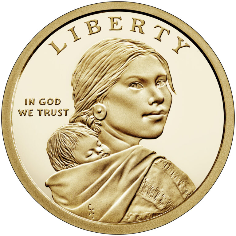 2021 Native American One Dollar Proof Coin Obverse