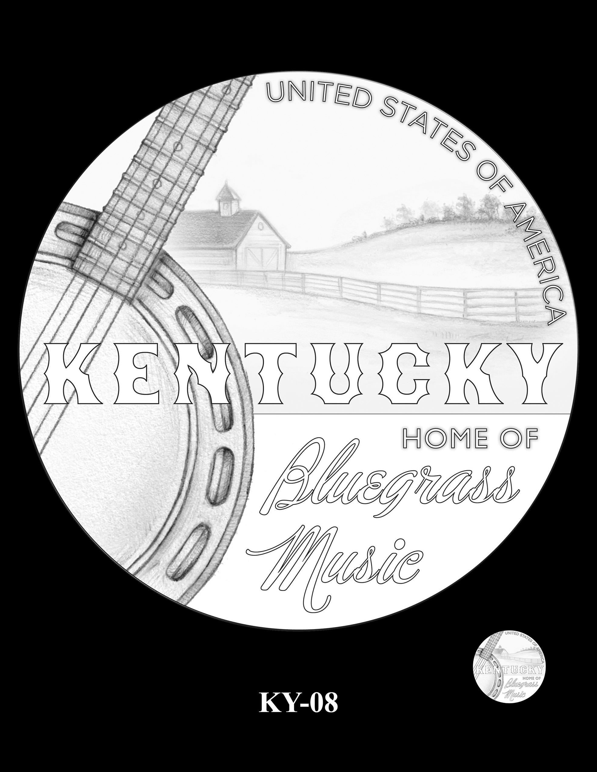 KY-08 -- 2022 American Innovation $1 Coin - Kentucky