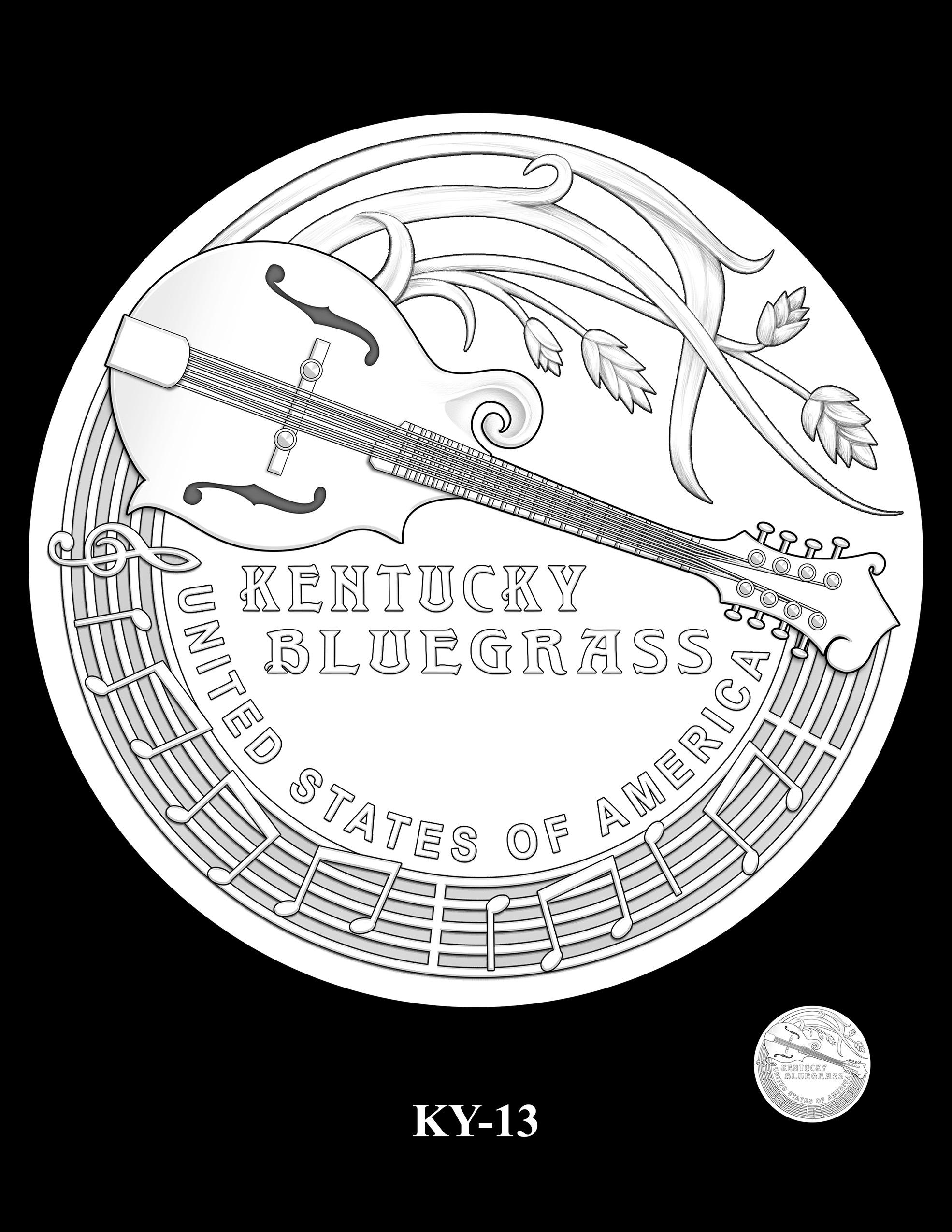 KY-13 -- 2022 American Innovation $1 Coin - Kentucky