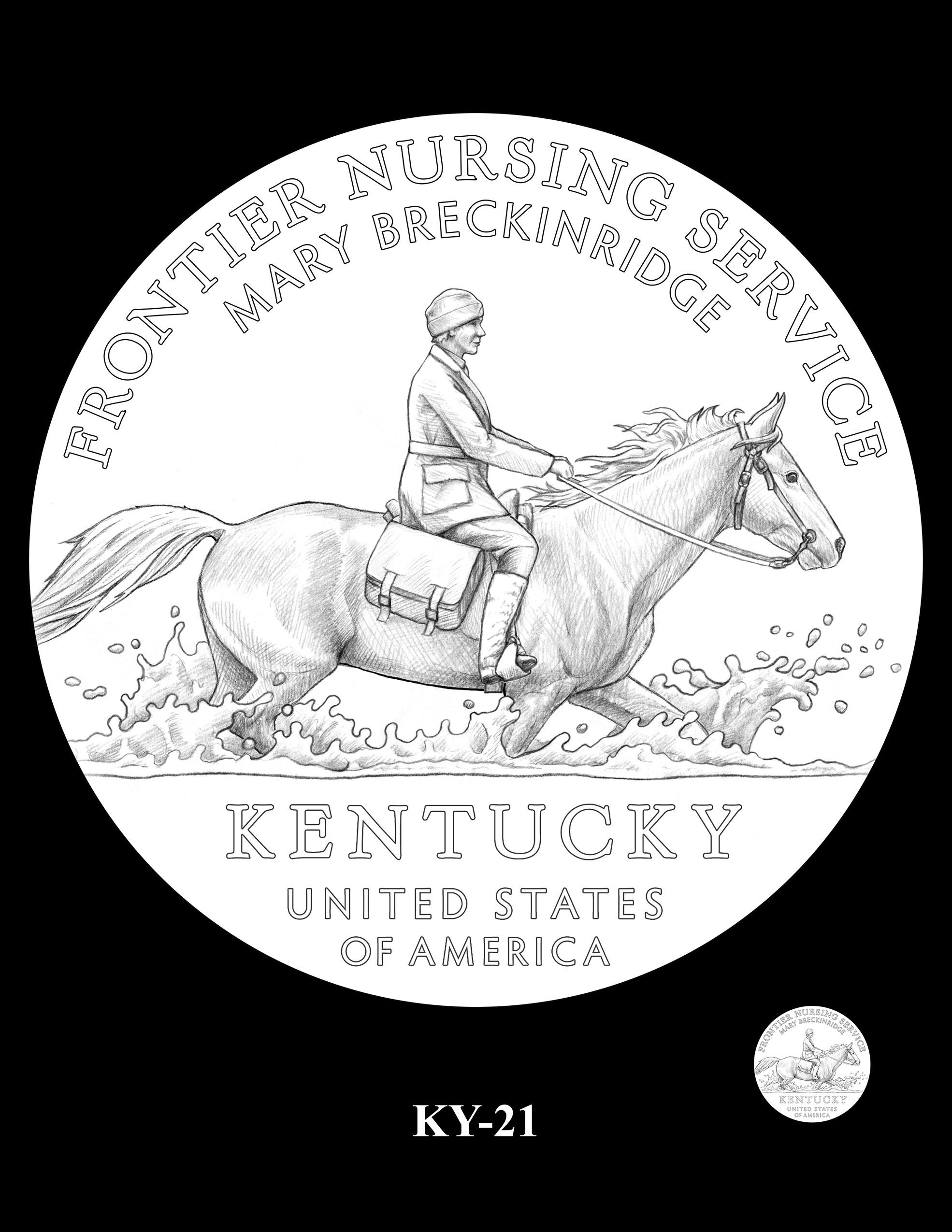 KY-21 -- 2022 American Innovation $1 Coin - Kentucky