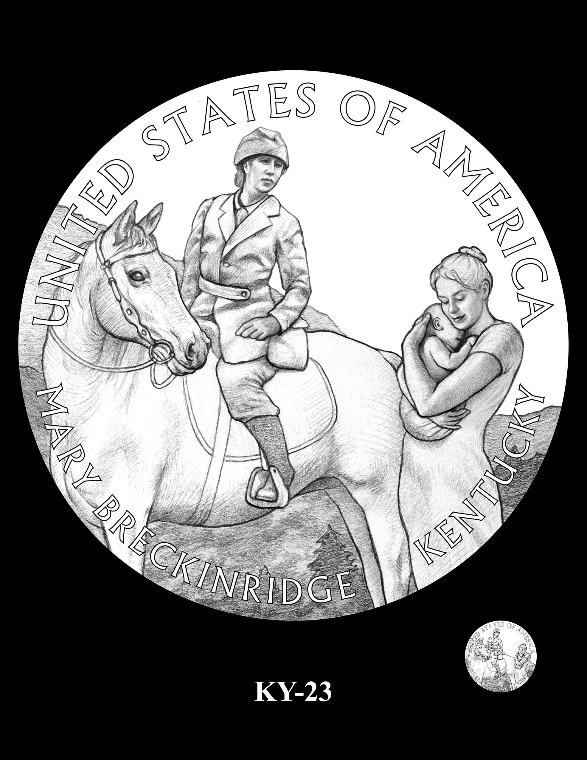 KY-23 -- 2022 American Innovation $1 Coin - Kentucky