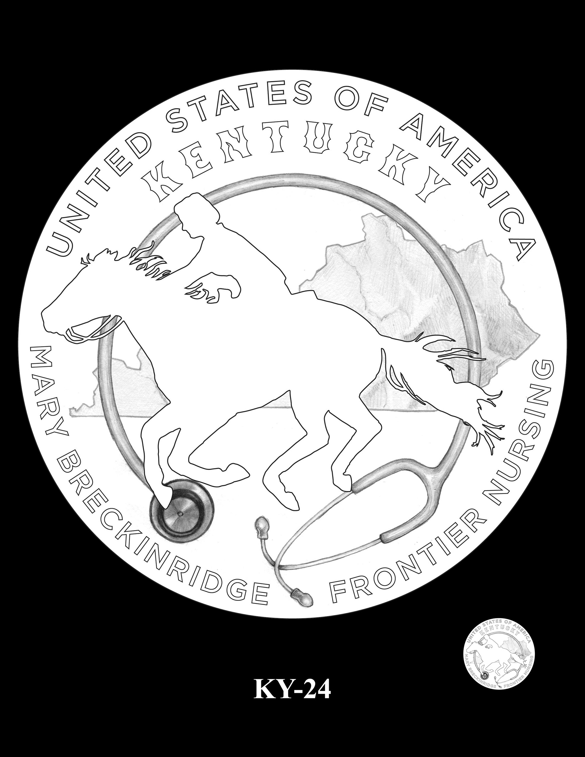 KY-24 -- 2022 American Innovation $1 Coin - Kentucky