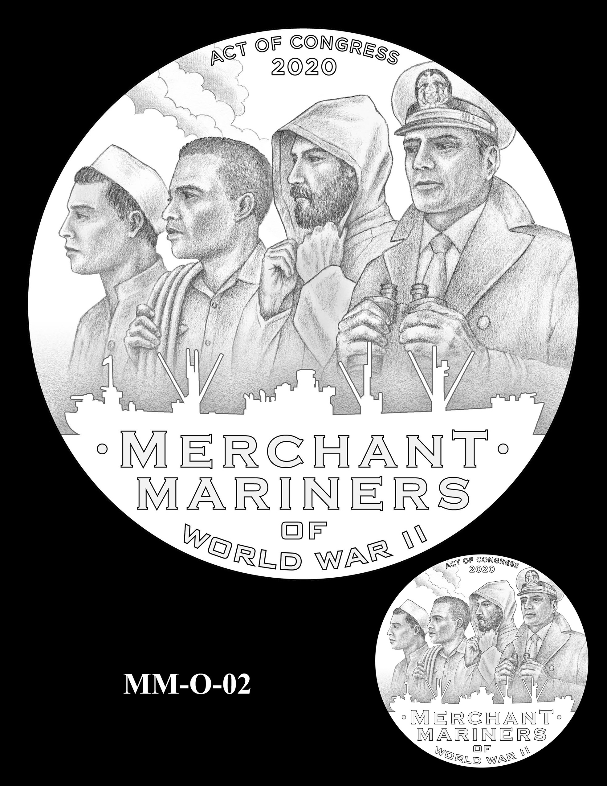 MM-O-02 -- Merchant Mariners of World War II Congressional Gold Medal