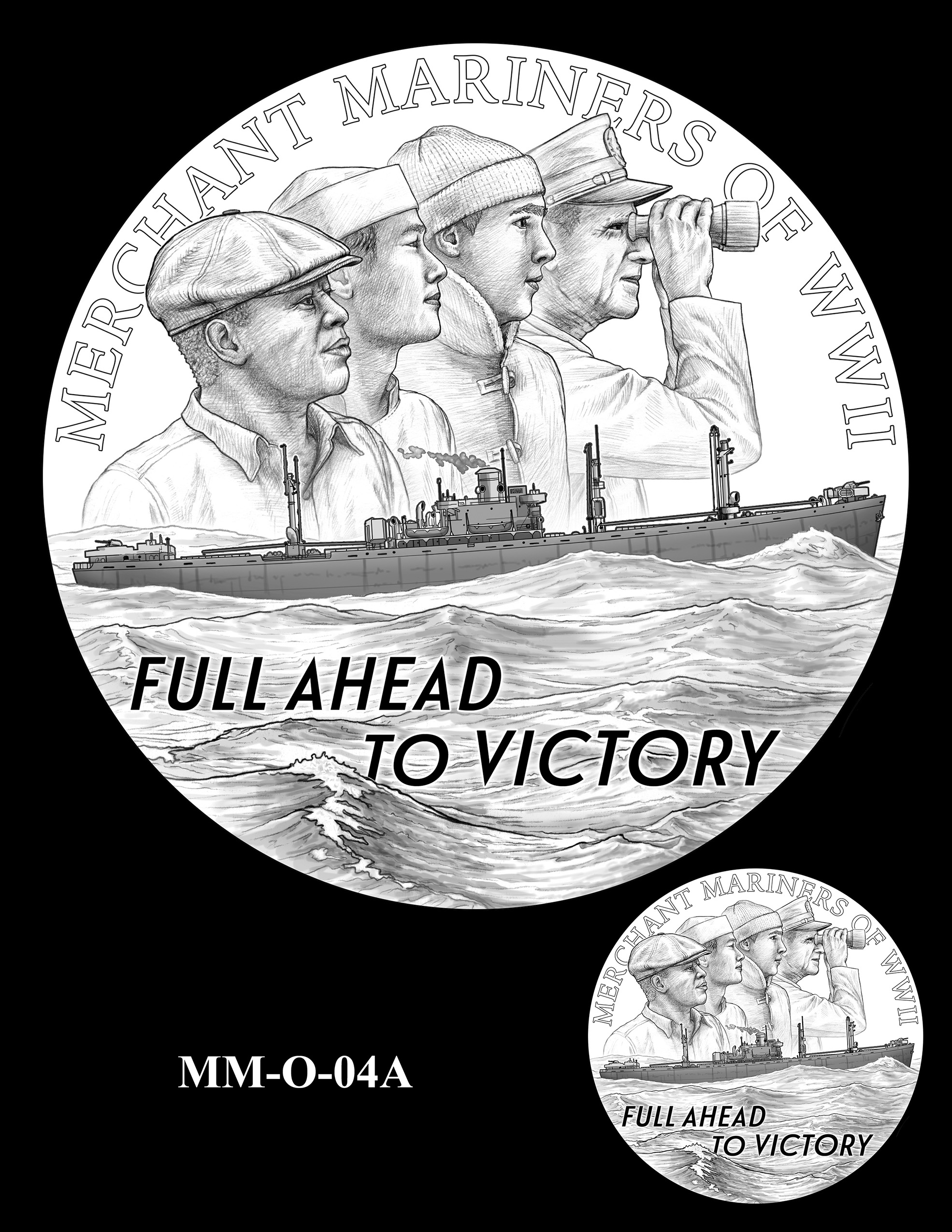 MM-O-04A -- Merchant Mariners of World War II Congressional Gold Medal