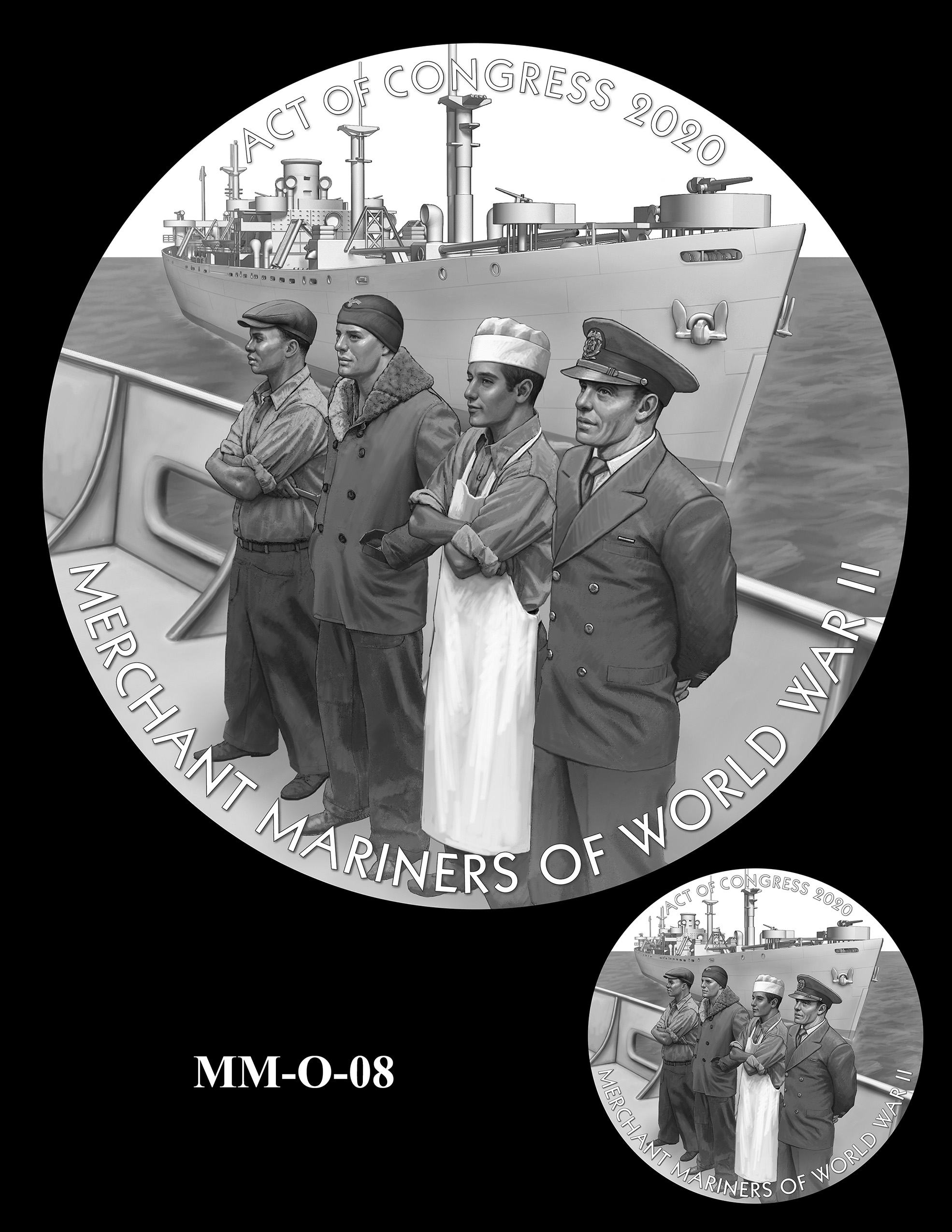 MM-O-08 -- Merchant Mariners of World War II Congressional Gold Medal