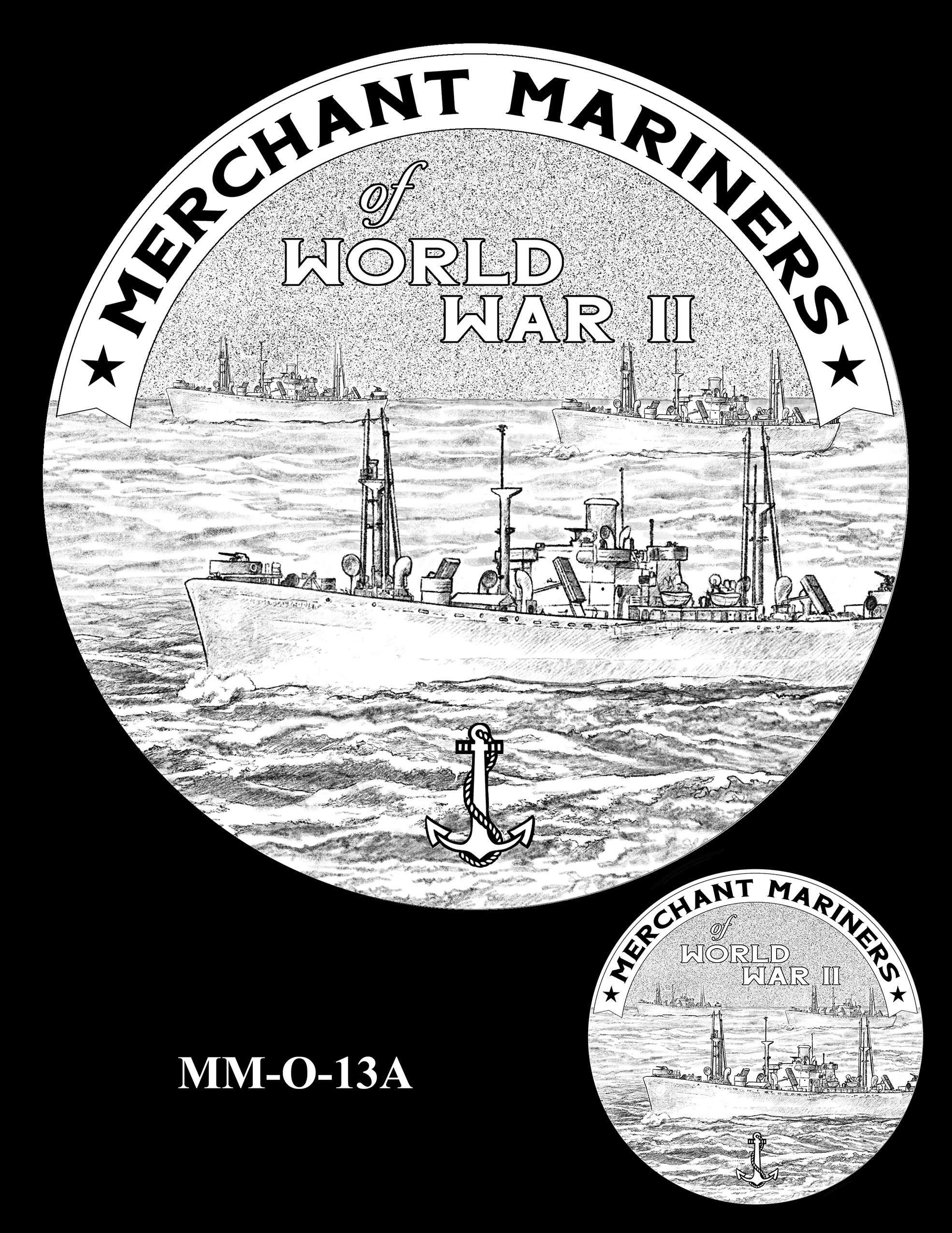 MM-O-13A -- Merchant Mariners of World War II Congressional Gold Medal