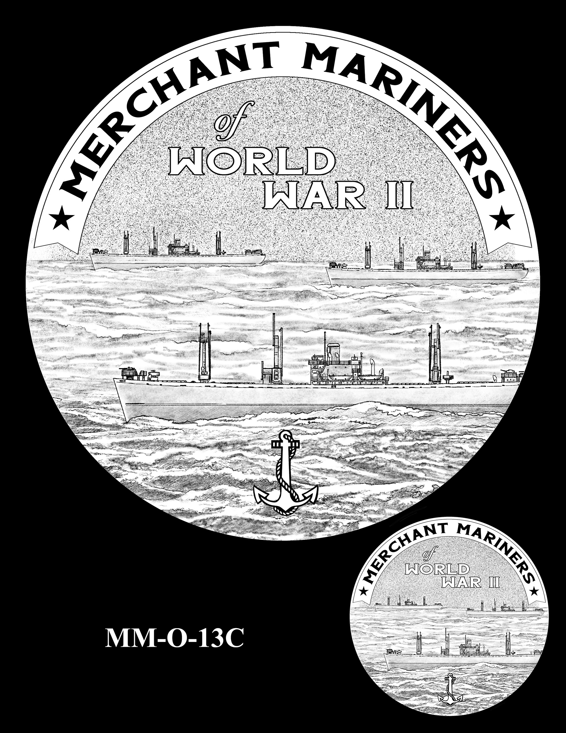 MM-O-13C -- Merchant Mariners of World War II Congressional Gold Medal
