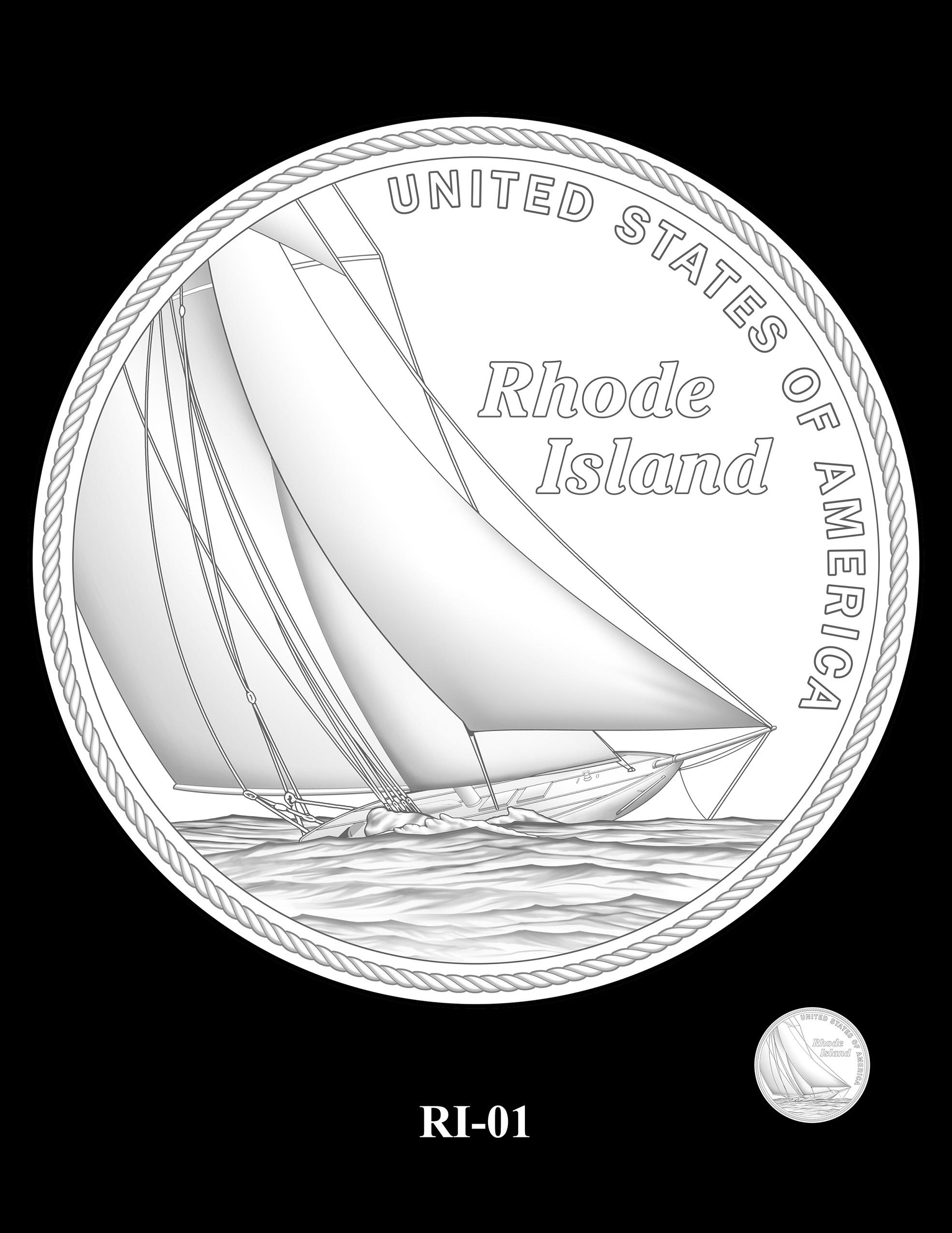RI-01 -- 2022 American Innovation $1 Coin - Rhode Island