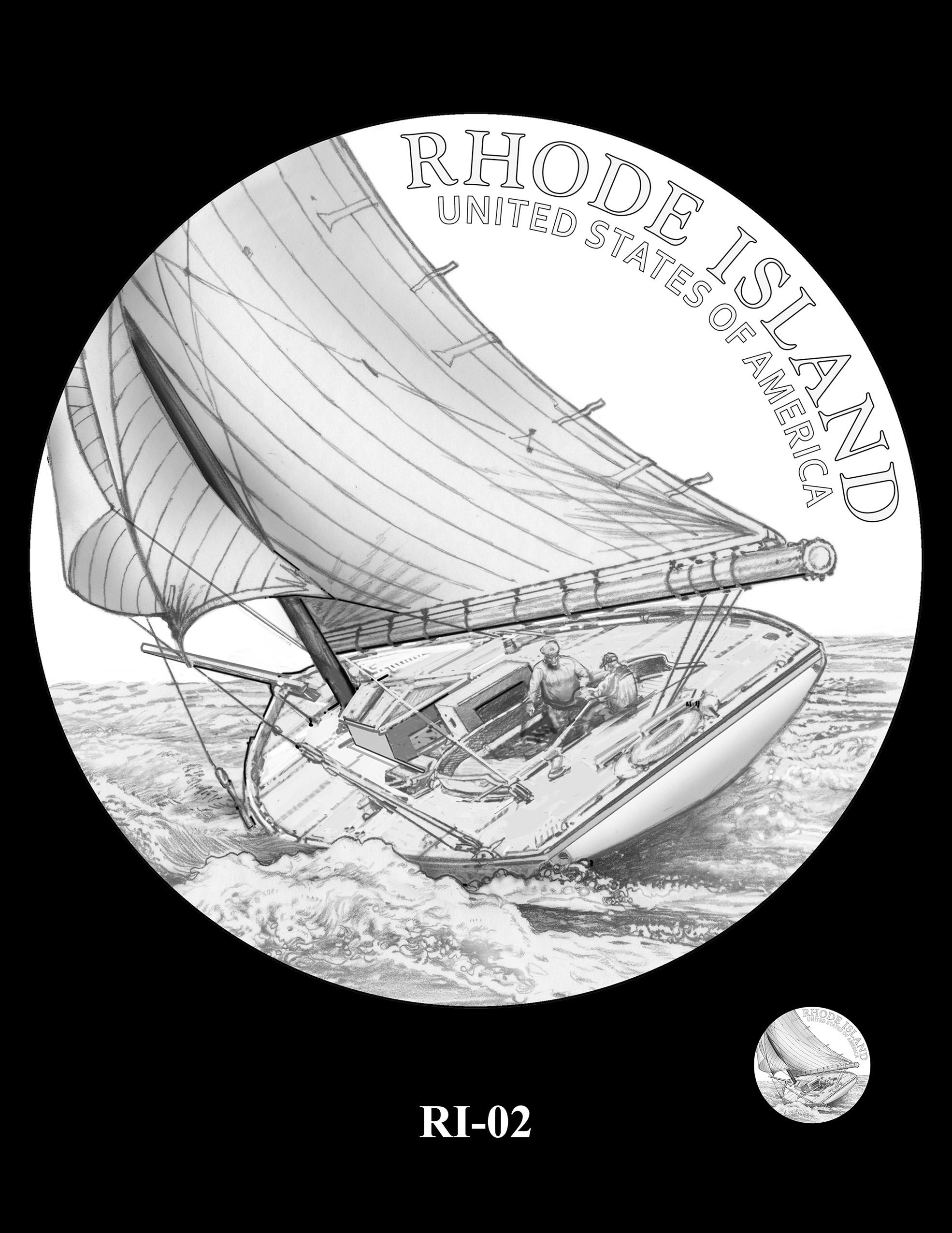 RI-02 -- 2022 American Innovation $1 Coin - Rhode Island