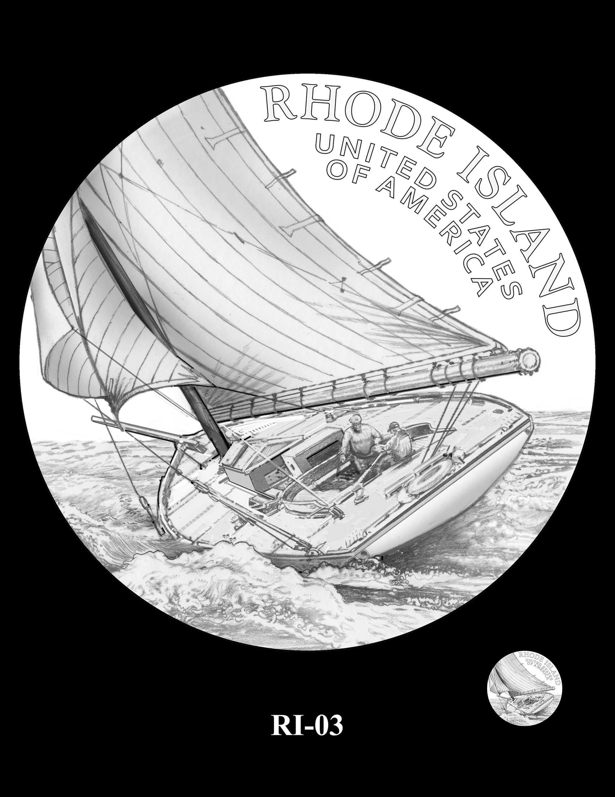 RI-03 -- 2022 American Innovation $1 Coin - Rhode Island