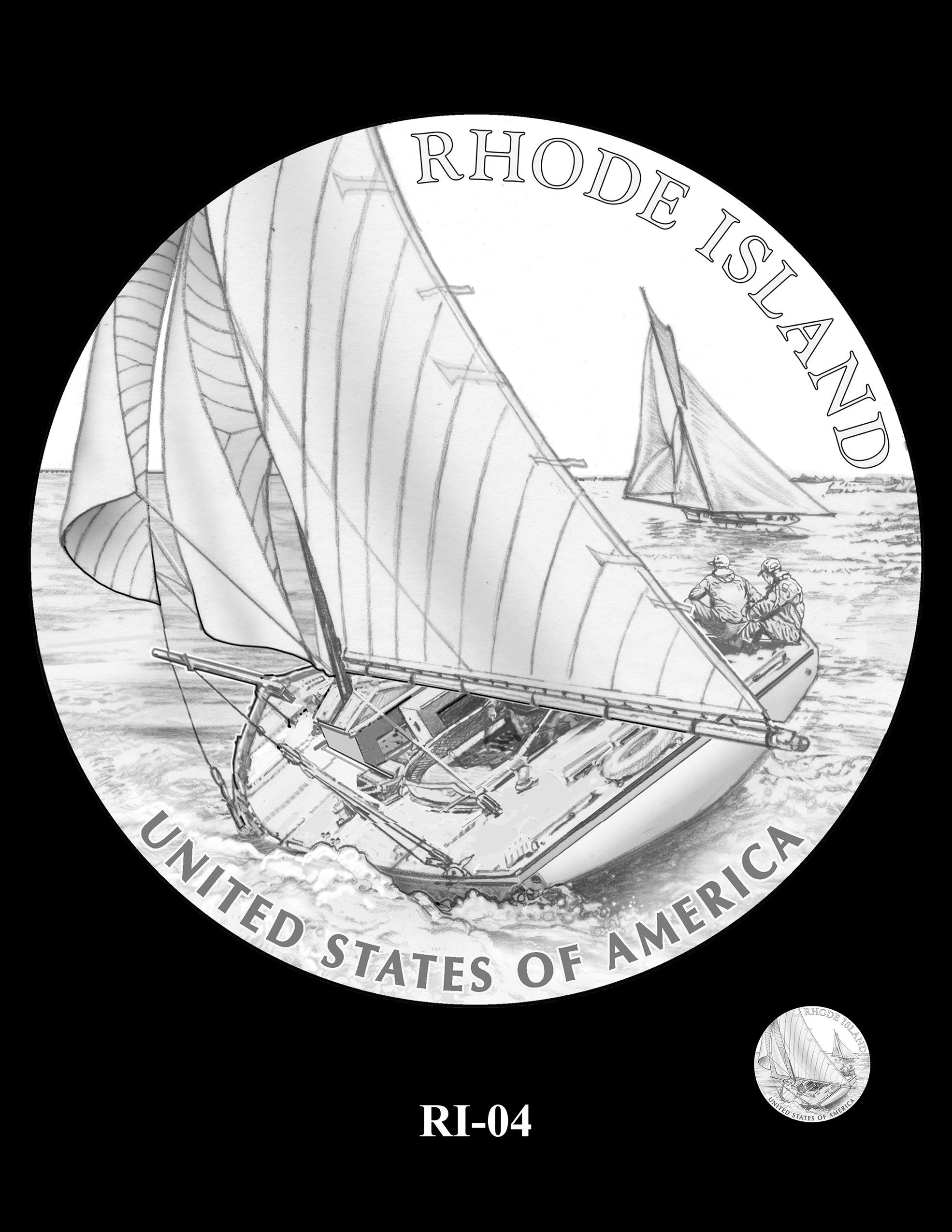 RI-04 -- 2022 American Innovation $1 Coin - Rhode Island