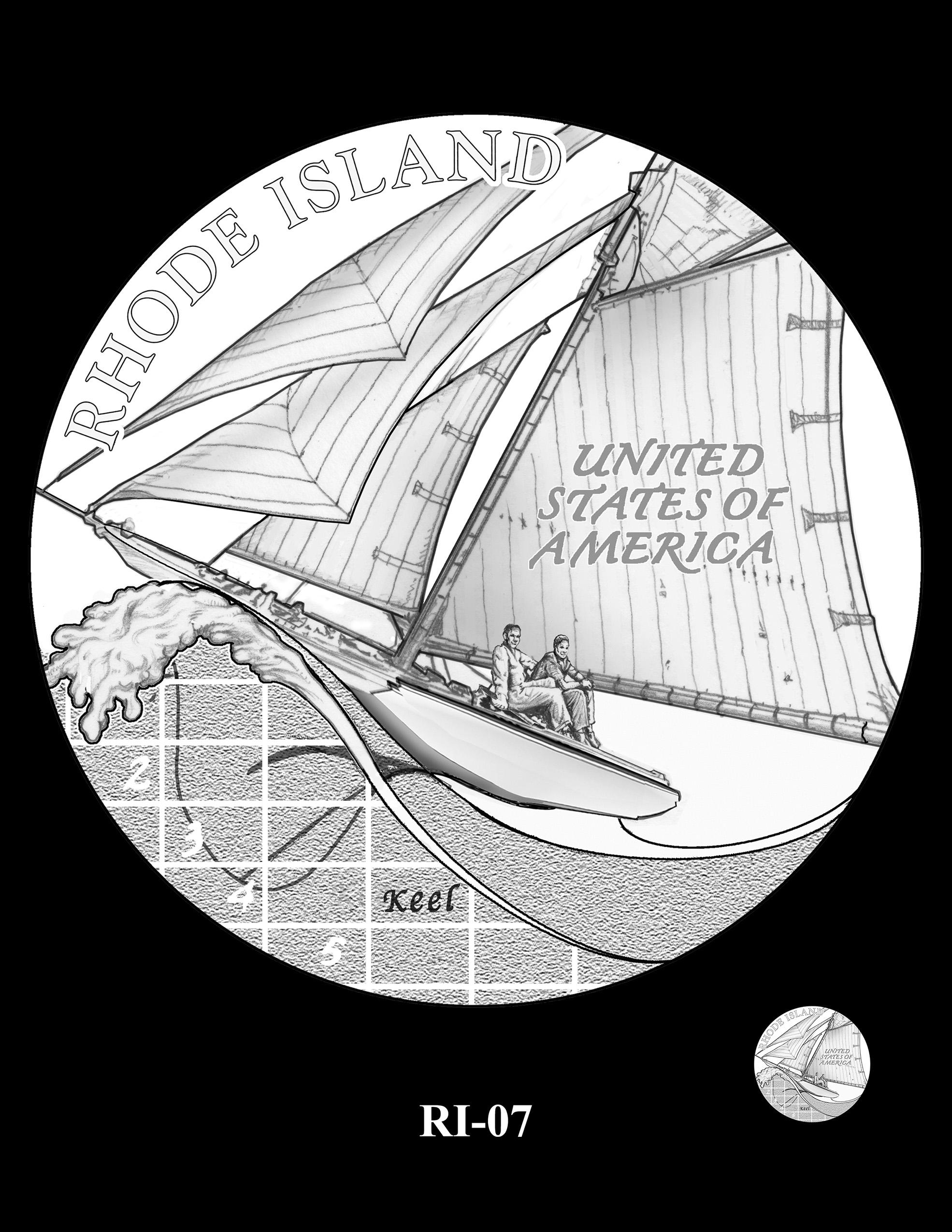 RI-07 -- 2022 American Innovation $1 Coin - Rhode Island