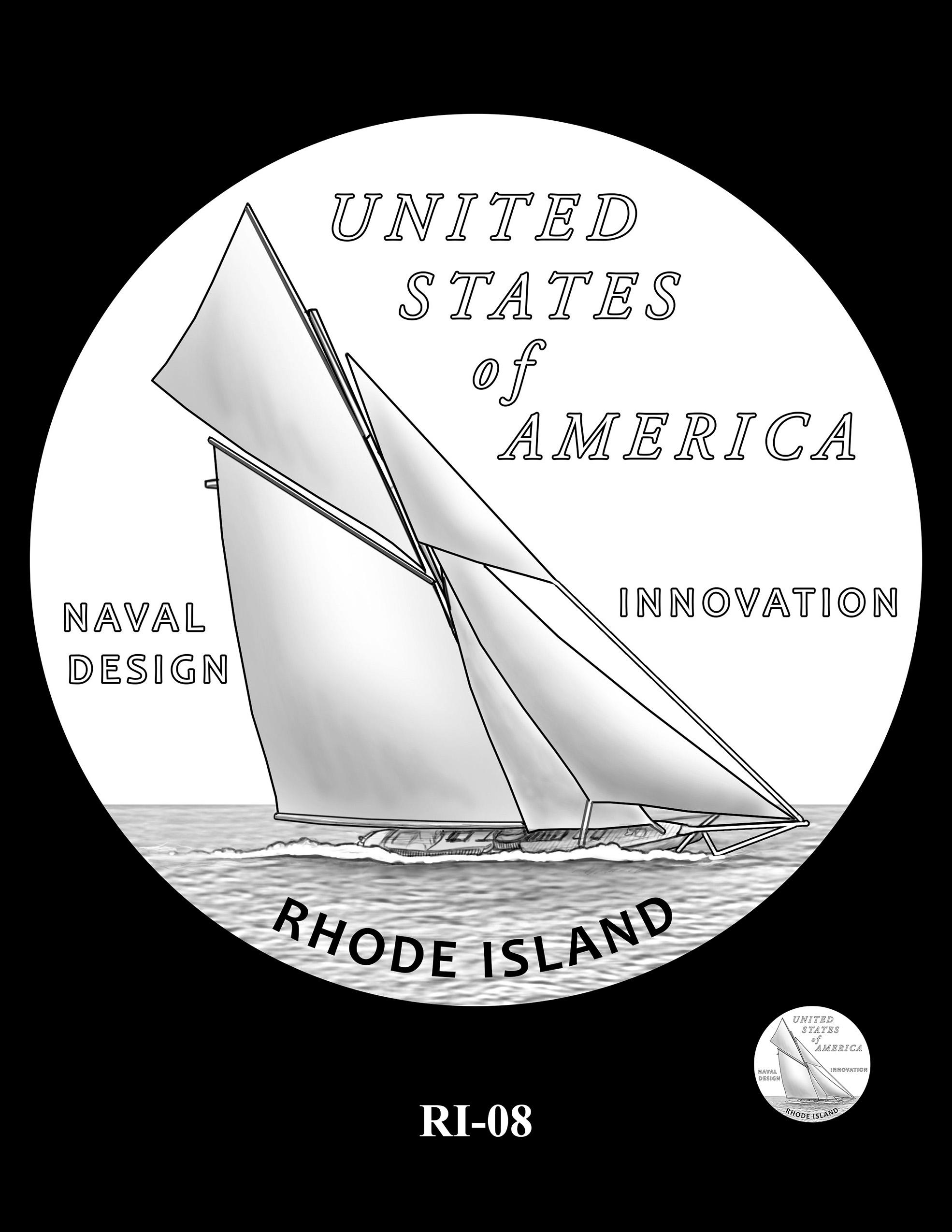 RI-08 -- 2022 American Innovation $1 Coin - Rhode Island