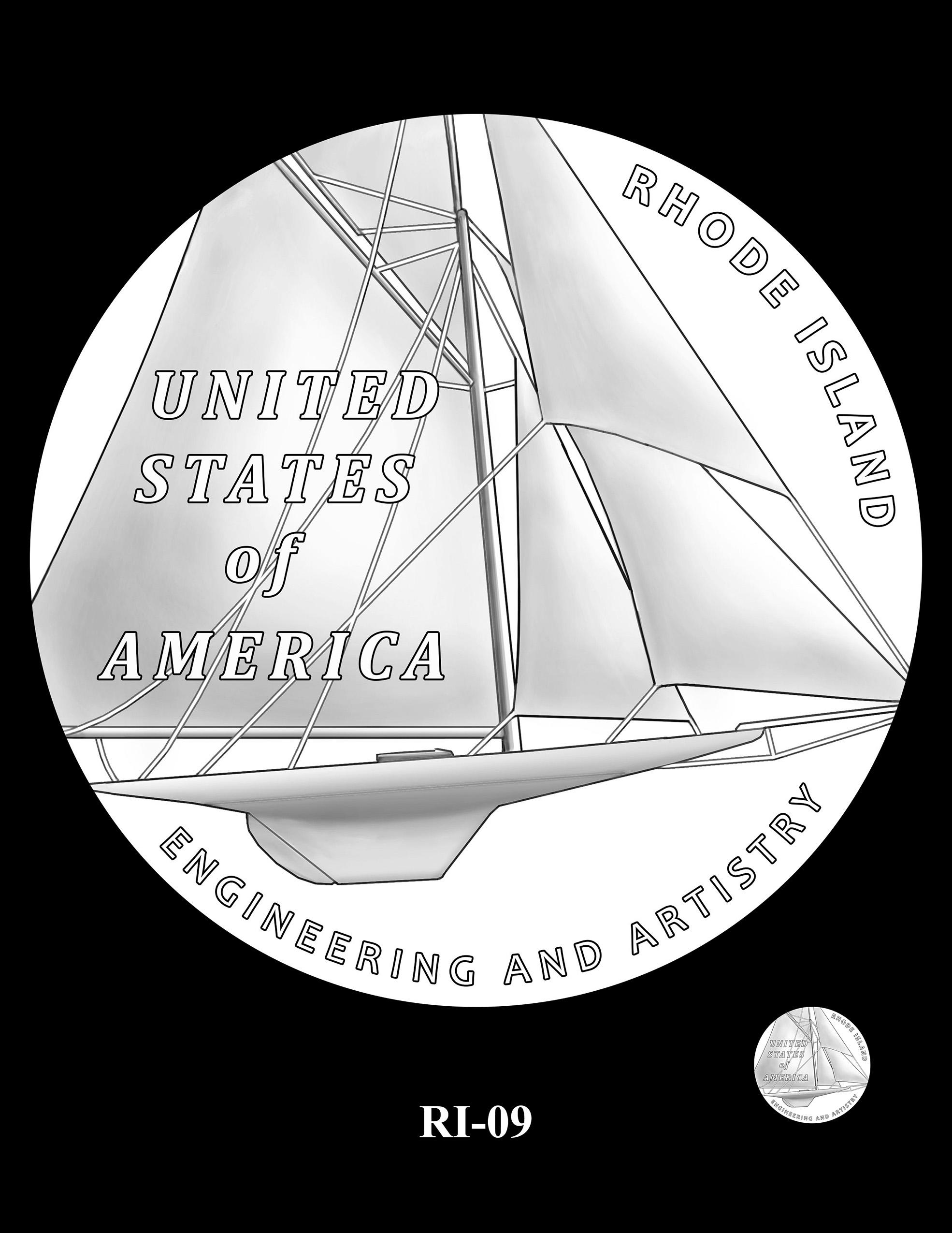 RI-09 -- 2022 American Innovation $1 Coin - Rhode Island