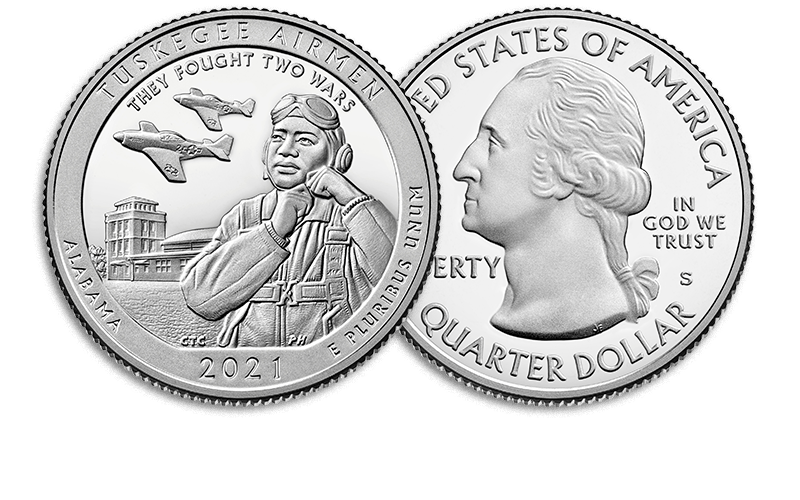 tuskegee airmen quarter reverse and obverse
