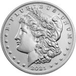 2021 Morgan Dollar Anniversary Coin Uncirculated Obverse