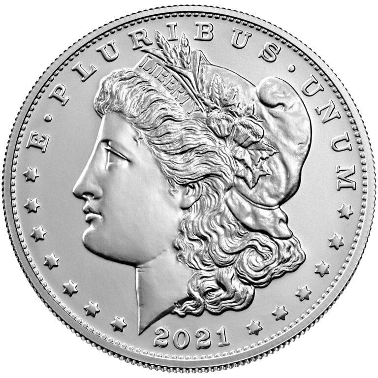 2021 Morgan Dollar Anniversary Coin Uncirculated Obverse
