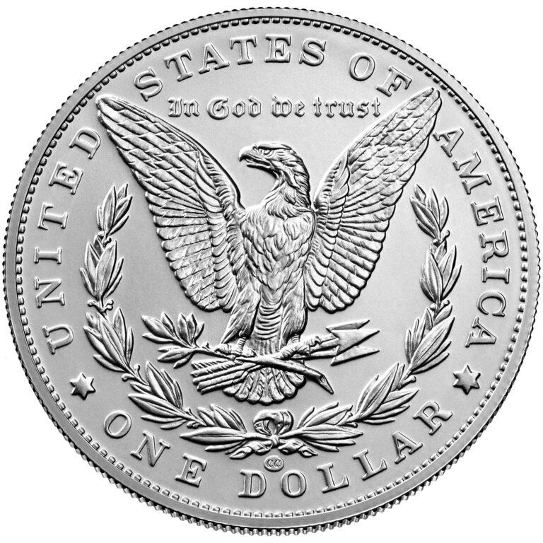 2021 Morgan Dollar Anniversary Coin Uncirculated Reverse CC Privy Mark