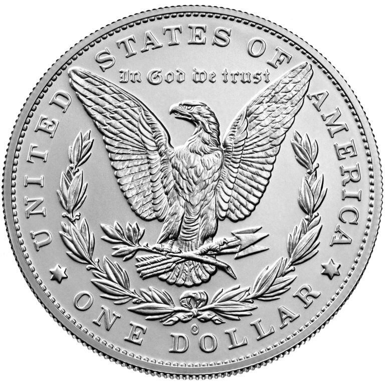 2021 Morgan Dollar Anniversary Coin Uncirculated Reverse O Privy Mark