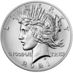 2021 Peace Dollar Anniversary Coin Uncirculated Obverse