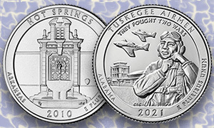 hot springs and tuskegee airmen quarter reverses