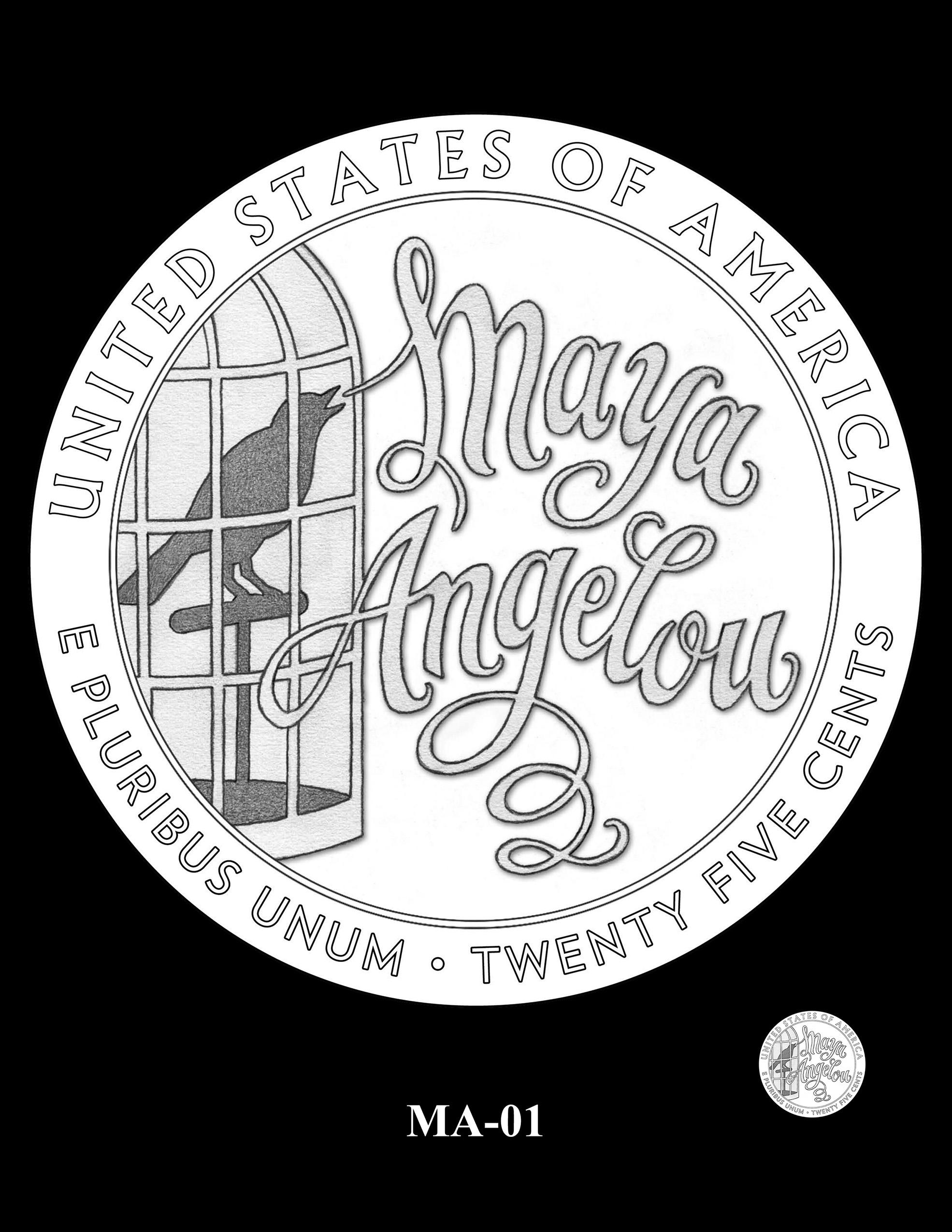 MA-01 -- 2022 American Women Quarters - Maya Angelou Reverse