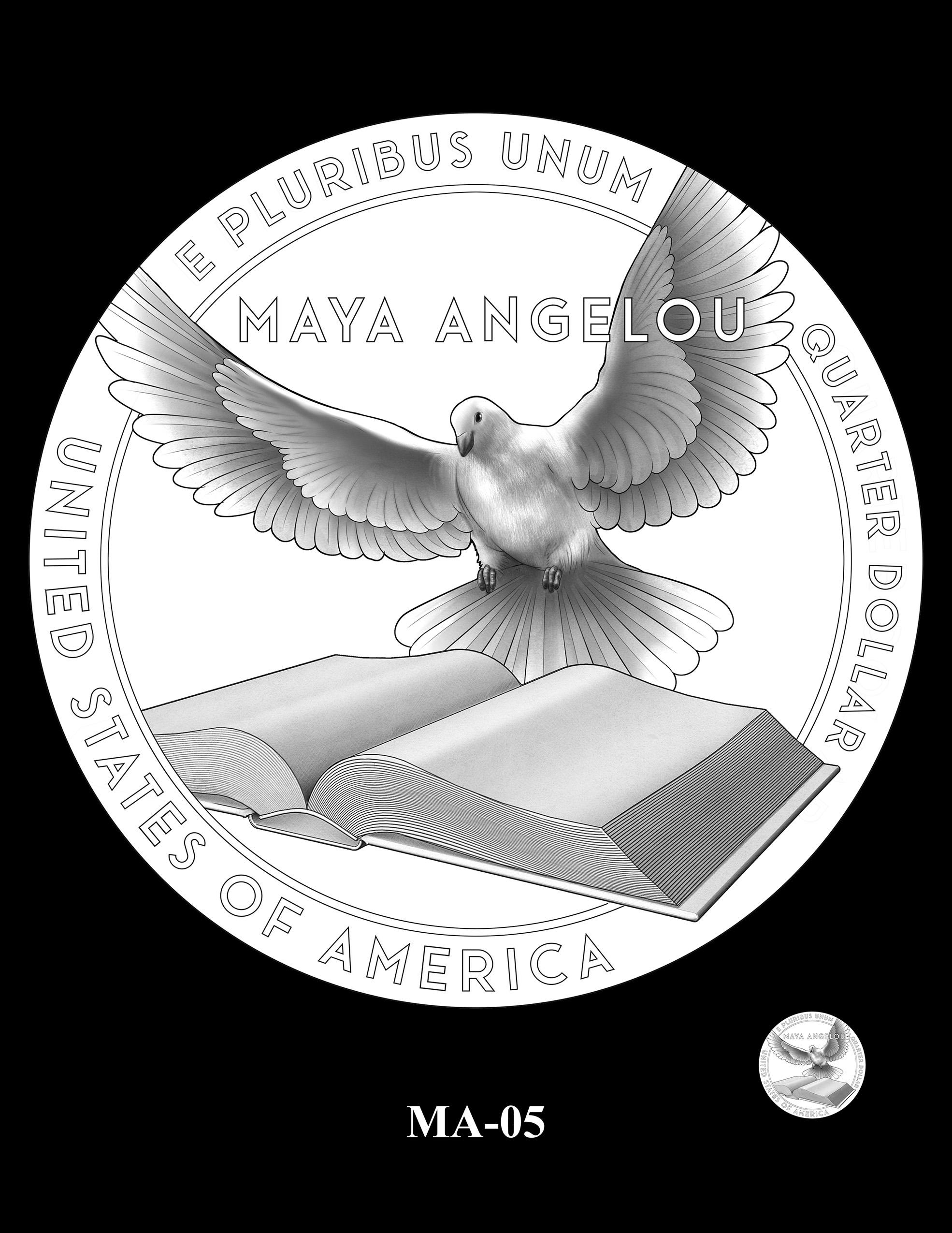 MA-05 -- 2022 American Women Quarters - Maya Angelou Reverse