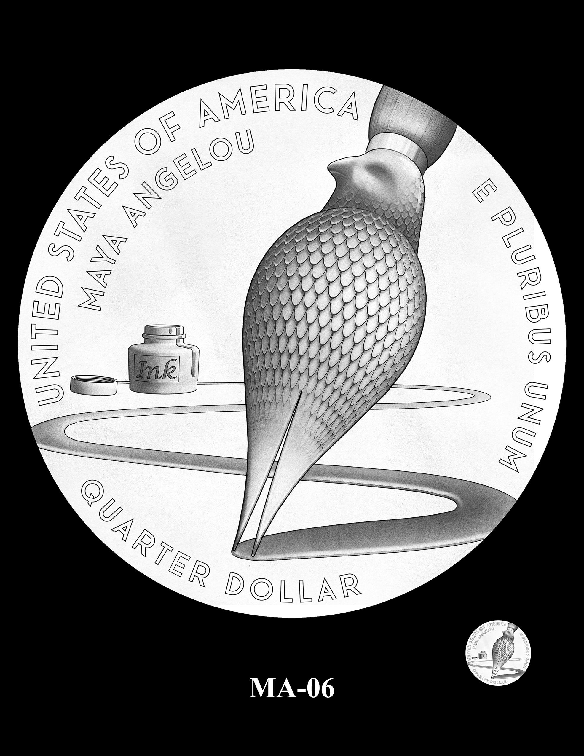 MA-06 -- 2022 American Women Quarters - Maya Angelou Reverse