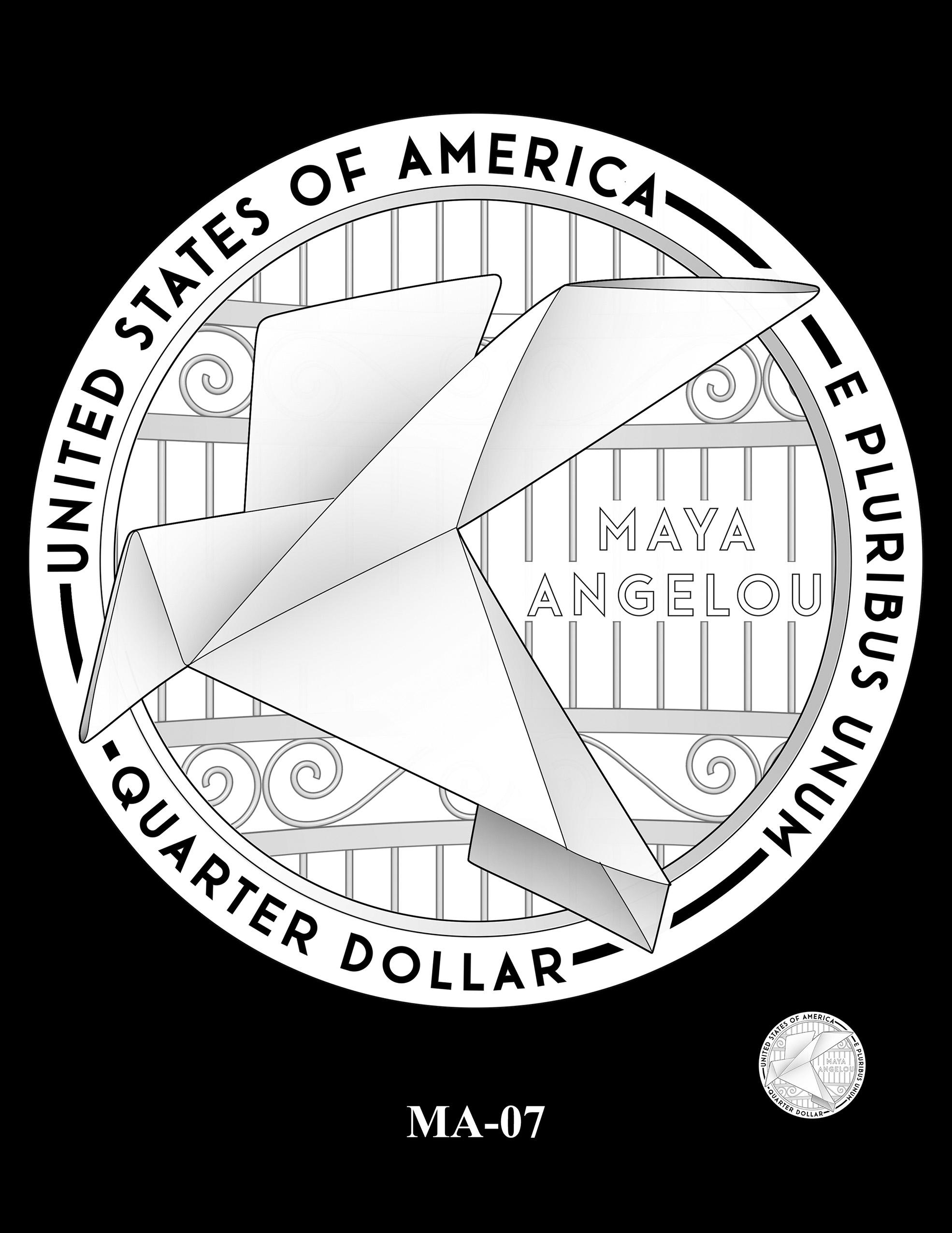 MA-07 -- 2022 American Women Quarters - Maya Angelou Reverse