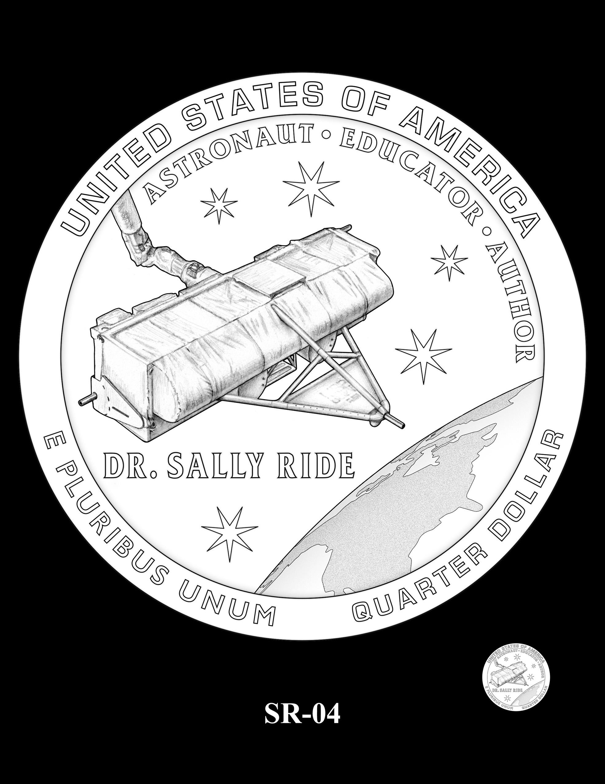 SR-04 -- 2022 American Women Quarters - Sally Ride Reverse