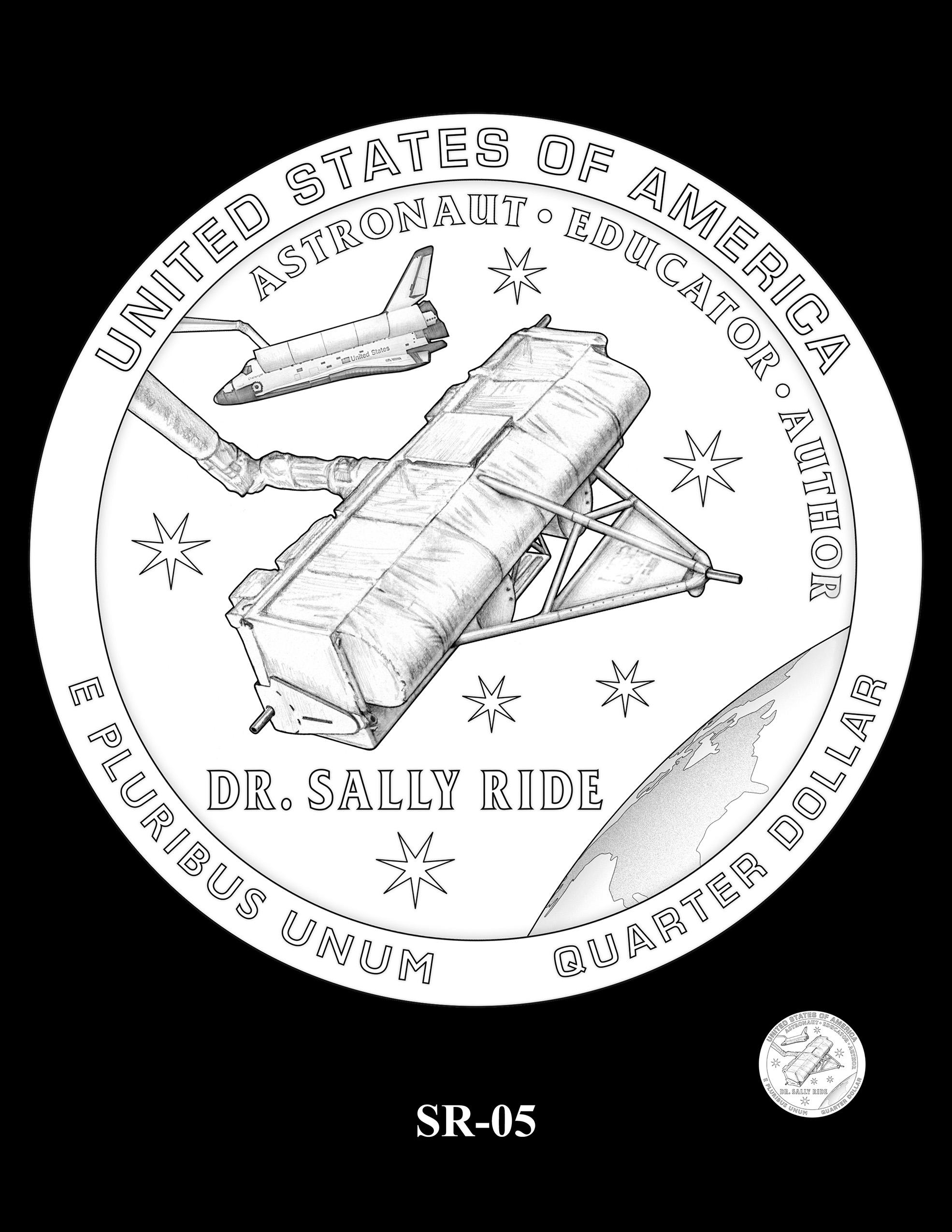 SR-05 -- 2022 American Women Quarters - Sally Ride Reverse