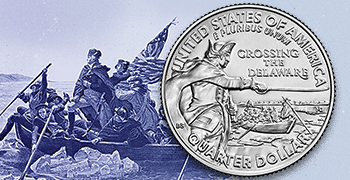 George Washington Crossing the Delaware Quarter