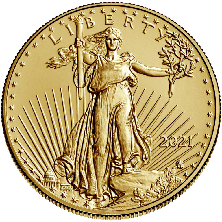 2021 American Eagle Gold Half Ounce Bullion Coin Obverse New Design