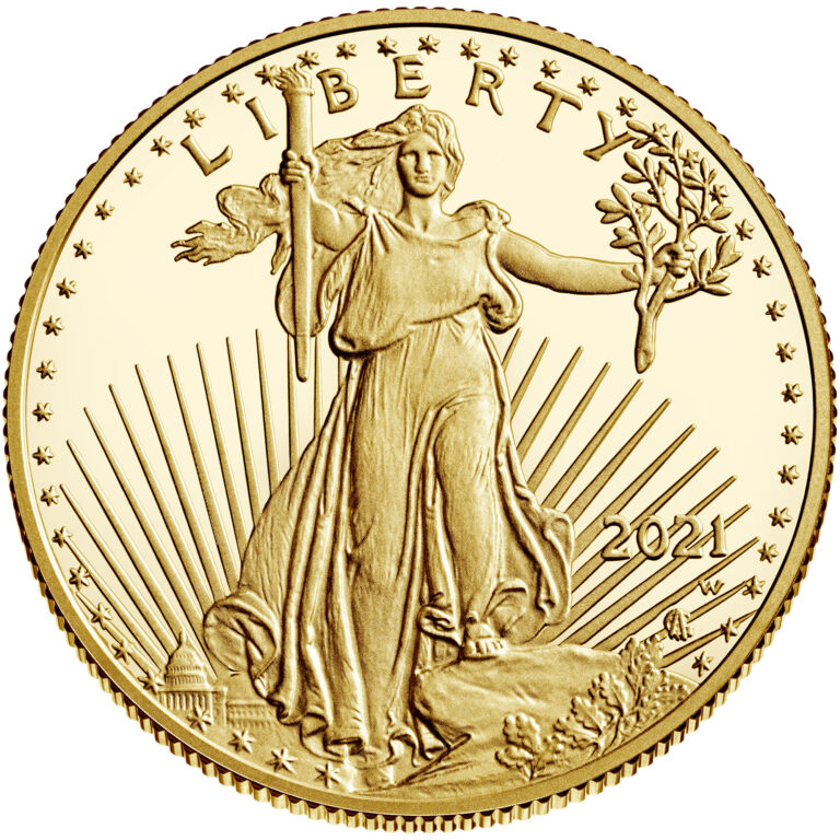 2021 American Eagle Gold Half Ounce Proof Coin Obverse New Design