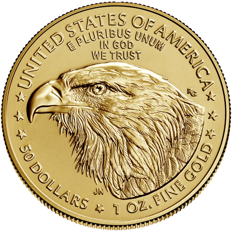 2021 American Eagle Gold One Ounce Bullion Coin Reverse New Design