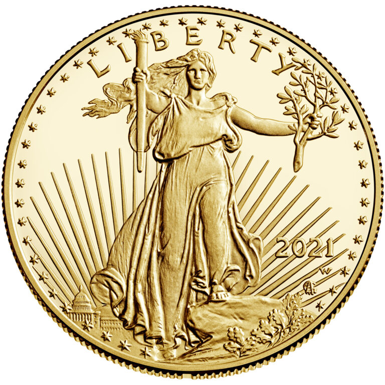 2021 American Eagle Gold One Ounce Proof Coin Obverse New Design